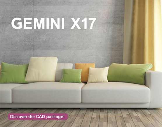 Gemini X17 upholstery CAD package-new